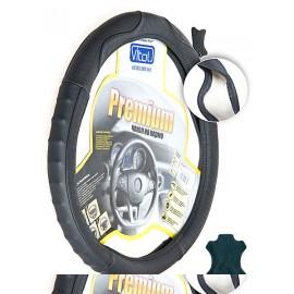Оплётка Vitol - B401 M черный/перф/кожа
