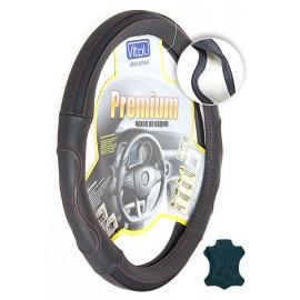 Оплётка Vitol - B006 M черный/перф/кр. нитка/кожа