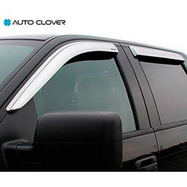 Ветровики  AutoClover - Chevrolet Aveo 2008 Хетчбэк (хром)