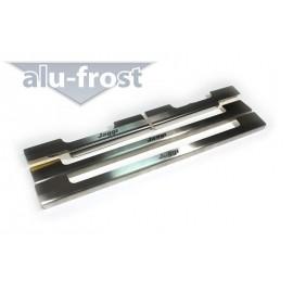 Накладки на пороги Alu-Frost - Chery Jaggi 2008+ (ком.)