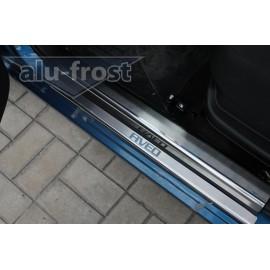 Накладки на пороги Alu-Frost - Chevrolet Aveo I/II 5D 2002+ (ком.)