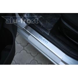Накладки на пороги Alu-Frost - Chevrolet Aveo III 4D / 5D 2011+ (ком.)