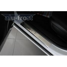 Накладки на пороги Alu-Frost - Chevrolet Cruze (AluFrost) 4D/5D (ком.)