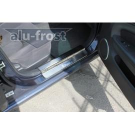 Накладки на пороги Alu-Frost - Chevrolet Epica 2006+ (ком.)