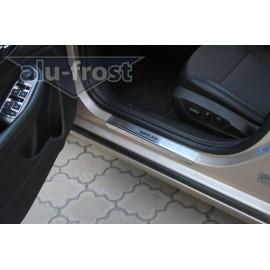 Накладки на пороги Alu-Frost - Chevrolet Malibu 2012+ (ком.)