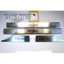 Накладки на пороги Alu-Frost - Chevrolet Tacuma 2000-2008 (ком.)