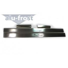 Накладки на пороги Alu-Frost - Citroen Berlingo I 1996-2008 (ком.)