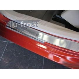 Накладки на пороги Alu-Frost - Dodge Caliber 2006+ (ком.)