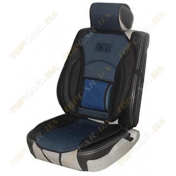 Накидка на сидения Vitol MF1007 сине-чёрная универсальная