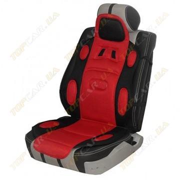 Накидка на сидения Vitol Sport F19002 красная универсальная