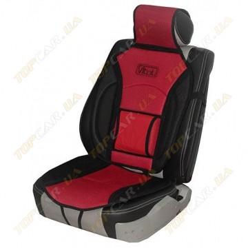 Накидка на сидения Vitol MF1007 красная с черным универсальная