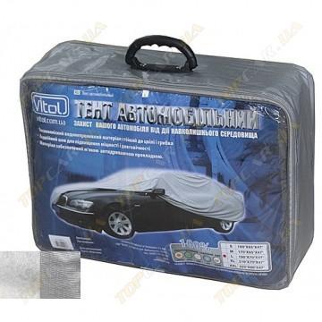 Тент для авто Vitol CC13401 размер L с подкладкой, карманами для зеркал