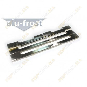 Накладки на пороги Alu-Frost - Chery Jaggi 2008+ (комплект)