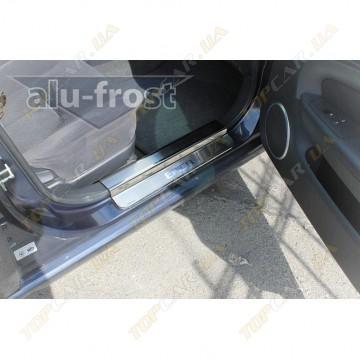 Накладки на пороги Alu-Frost - Chevrolet Epica 2006+ (комплект)
