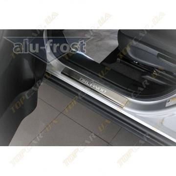 Накладки на пороги Alu-Frost - Chevrolet Orlando 2011+ (комплект)